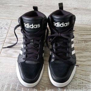 Adidas neo black high tops